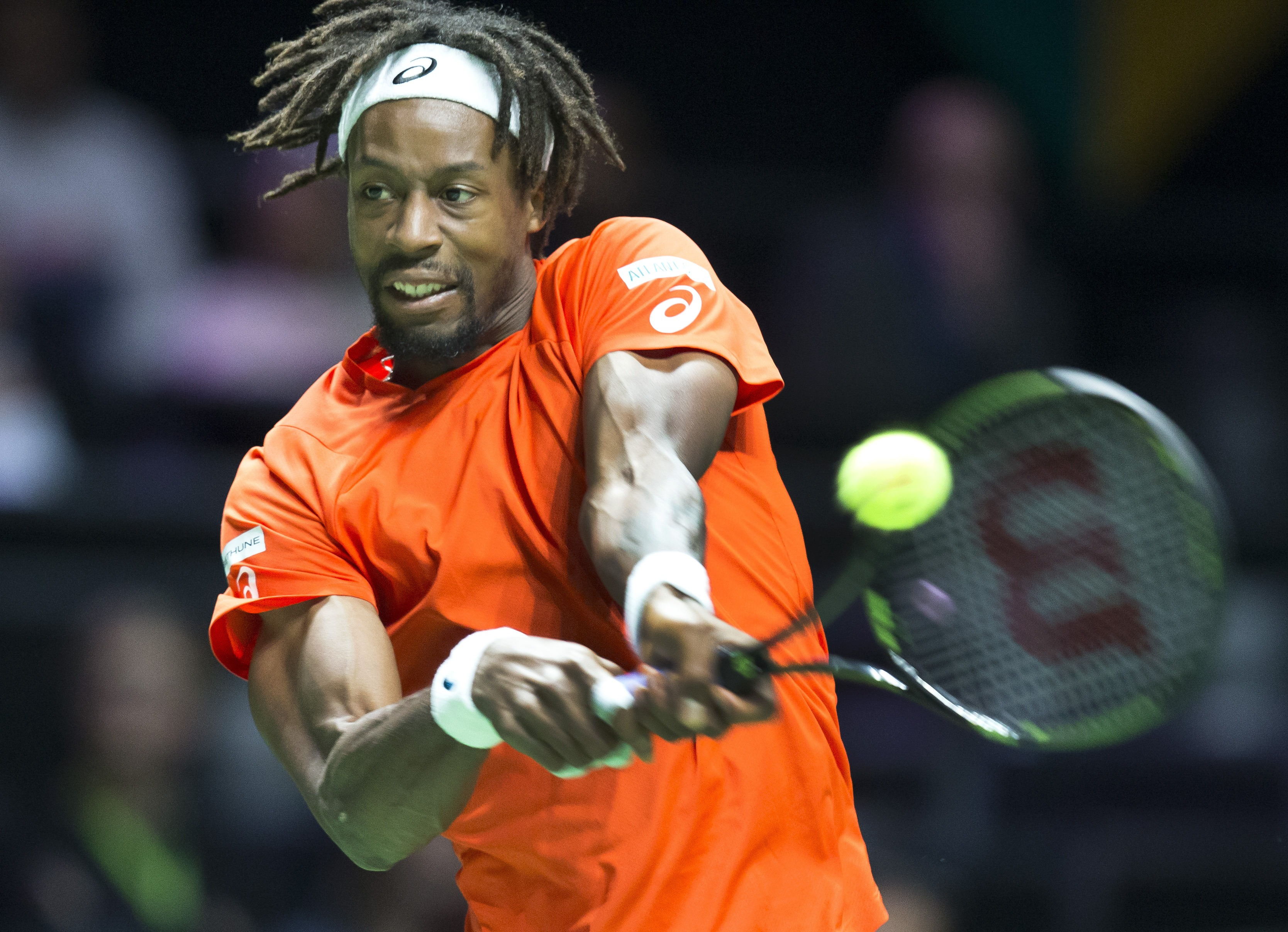 Gael Monfils took down Ernests Gulbis in straight sets. Photo: Getty Images