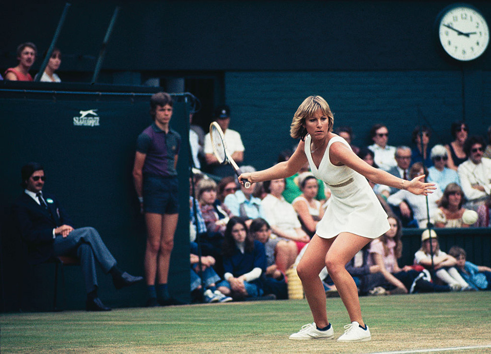 Chris Evert. Photo: Getty Images