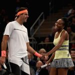 Venus Williams and Juan Martin del Potro teamed up for the World Tennis Day exo in Madison Square Garden. Photo: Getty Images