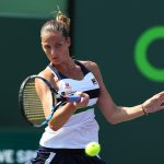 Karolina Pliskova got her Miami Open campaign off to a flying start with a 61 63 win over Madison Brengle. Photo: Getty Images