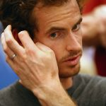 Andy Murray speaks with the press. Photo: Getty Images