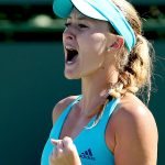 Kristina Mladenovic was a 63 63 winner against Simona Halep. Photo: Getty Images