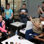 New world No.1 Angelique Kerber chats to the press ahead of the Miami Open. Photo: Getty Images