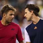 Wawrinka and Thiem had a long chat at the net after the match. Photo: Getty Images