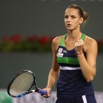 Karolina Pliskova marched into the semifinals with a 76 76 win over Muguruza. Photo: Getty Images