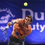 Donskoy, who had beaten Federer the day before, nearly claimed his second major scalp in Dubai. Photo: Getty Images