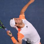 Lucas Pouille downed Evgeny Donskoy 64 57 76(2). Photo: Getty Images