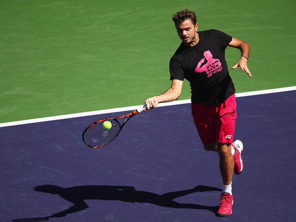 Stan Wawrinka practised with Alexander Zverev on Stadium 1; Getty Images