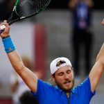 Lucas Pouille got France off to a flying start with a tight win over Kyle Edmund. Photo: Getty Images