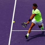 Nadal had early opportunities to break, but when he failed to convert them Federer took control. Photo: Getty Images