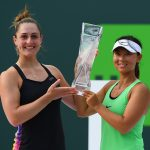 Dabrowski and Xu shocked Mirza and Strycova in the Miami final. Photo: Getty Images