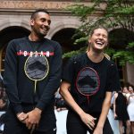 Nick Kyrgios and Genie Bouchard shared a funny. Photo: Getty Images