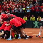 Belgium sealed the 3-2 win and booked a spot in the Davis Cup final. Photo: Getty Images