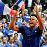 Jo-Wilfried Tsonga secured France's place in the final with a 2-6 6-2 7-6(5) 6-2 win over Lajovic. Photo: Getty Images
