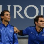 There were tense moments for Roger Federer and Rafael Nadal as they cheered their teammates on. Photo: Getty Images