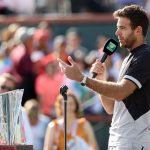"""I'm still shaking ... I cannot believe I'm here with this trophy,"" said Juan Martin del Potro; Getty Images"
