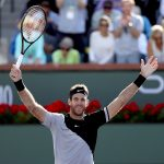 Juan Martin del Potro celebrates - incredibly - his first ever ATP Masters title; Getty Images